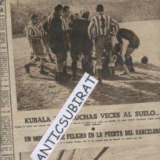 Coleccionismo deportivo: PERIODICO.AÑO 1953.FUTBOL.F.C.BARCELONA.KUBALA.ANG-THARKEY.EXPEDICION HIMALAYA.MONTSERRAT ESCALADA.. Lote 28800548