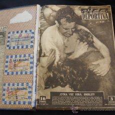 Coleccionismo deportivo: VIDA DEPORTIVA 41 REVISTAS ENCUADERNADAS + 3 CARNETS R.C.D. ESPAÑOL TEMPORADA 1952-53 - LEER INT.. Lote 28981136