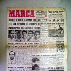 Coleccionismo deportivo: PERIODICO, DIARIO, MARCA, DICIEMBRE 1943, MADRID FRENTE AL ATLETICO DE BILBAO. Lote 29133303