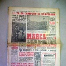 Coleccionismo deportivo: PERIODICO, DIARIO, MARCA, ABRIL 1959, YA ES CAMPEON EL BARCELONA. Lote 29133582