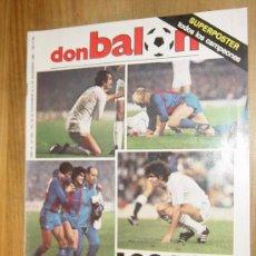 Collectionnisme sportif: DON BALON. Nº 425. NOVIEMBRE 1983. INCLUYE SUPERPOSTER TODOS LOS CAMPEONES. Y POSTER DE JOSE CARRASC. Lote 29106083