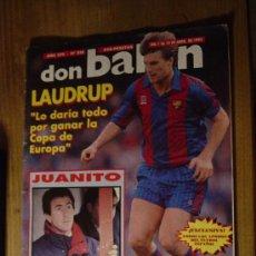 Collectionnisme sportif: DON BALON. Nº 858. ABRIL 1992. JUANITO, (DEL MALAGA) TRAGICO FINAL. POSTER DE BUYO.. Lote 29106628