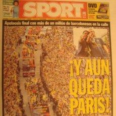 Coleccionismo deportivo: PERIODICO SPORT CELEBRACION BARÇA CAMÈON LIGA 2005/06. Lote 29115605