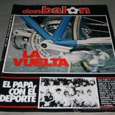 Coleccionismo deportivo: REVISTA FÚTBOL DON BALÓN Nº 446 ABRIL 1984 POSTER VALLADOLID 83-84. Lote 29185618