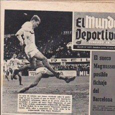 Coleccionismo deportivo: PERIODICO DEPORTIVO MUNDO DEPORTIVO 22-1-70. Lote 29201432