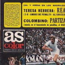 Coleccionismo deportivo: REVISTA DEPORTIVA AS COLOR Nº 274 17-8-76 CON CARTEL RAMOS . Lote 29228439