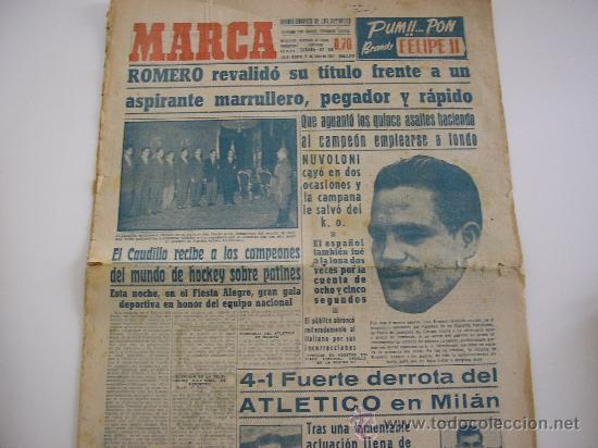 PERIODICO MARCA. JUNIO DE 1951 (Coleccionismo Deportivo - Revistas y Periódicos - Marca)