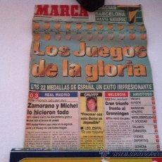 Coleccionismo deportivo: PORTADA ORIGINAL DE MARCA. 10/08/92. BARCELONA, LOS JUEGOS OLIMPICOS. LAS MEDALLAS. Lote 29811544