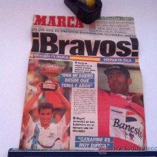 Coleccionismo deportivo: PORTADA ORIGINAL DE MARCA. 07/06/93. INDURAIN, CAMPEON DEL GIRO. BRUGUERA, CAMPEON DE ROLAN GARRO. Lote 29811561