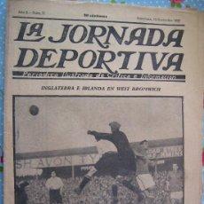 Collectionnisme sportif: LA JORNADA DEPORTIVA Nº 77 AÑO 1922 PRECIO 50 CENT INGLATERRA E IRLANDA EN WEST BROMWICH. Lote 29903336