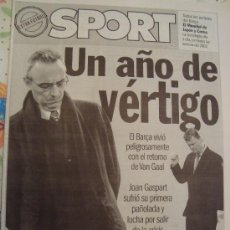 Coleccionismo deportivo: PERIODICO SPORT EXTRA FUTBOL 2002. Lote 29969671