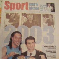 Coleccionismo deportivo: PERIODICO SPORT EXTRA FUTBOL 2003. Lote 29969722