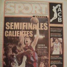 Coleccionismo deportivo: PERIODICO SPORT EXTRA BASKET SEMIFINALES LIGA 2003/04. Lote 29976162