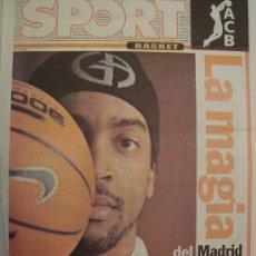 Coleccionismo deportivo: PERIODICO SPORT EXTRA BASKET LOUIS BULLOCK 2005/06. Lote 29976186