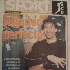 Coleccionismo deportivo: PERIODICO SPORT EXTRA BASKET JORGE CARBAJOSA 2005/06. Lote 29976978
