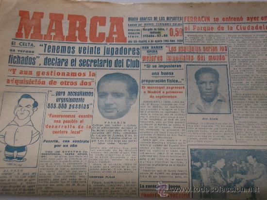 PERIODICO MARCA. AGOSTO DE 1949. (Coleccionismo Deportivo - Revistas y Periódicos - Marca)