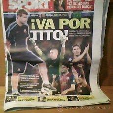 Coleccionismo deportivo: SPORT [MIÉRCOLES 23 DE NOVIEMBRE DE 2011][Nº 11.562]. Lote 30038462
