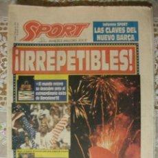 Coleccionismo deportivo: SPORT AGOSTO 1992 CLAUSURA JUEGOS OLIMPICOS BARCELONA. Lote 254027755