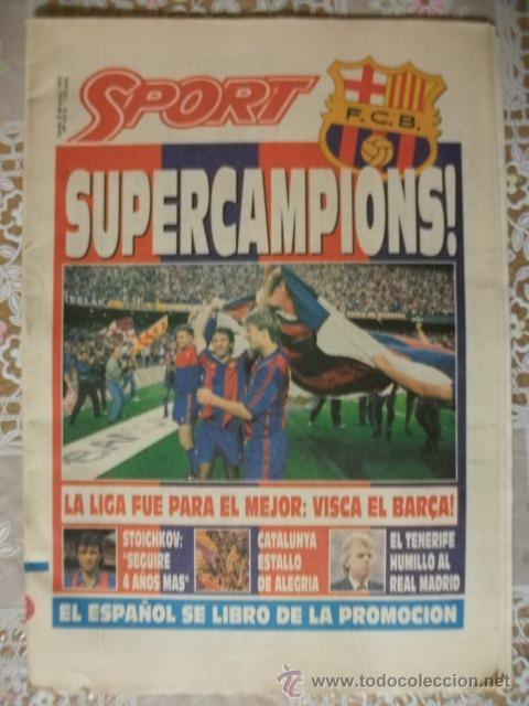 SPORT SUPERCAMPIONS LIGA 1992 BARÇA BARCELONA (Coleccionismo Deportivo - Revistas y Periódicos - Sport)