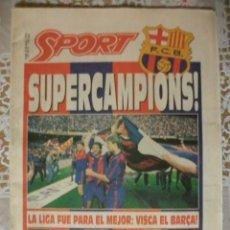Coleccionismo deportivo: SPORT SUPERCAMPIONS LIGA 1992 BARÇA BARCELONA. Lote 251464390