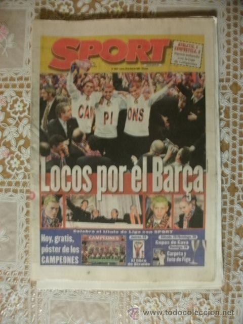 SPORT 1998 BARÇA CAMPIONS BARCELONA (Coleccionismo Deportivo - Revistas y Periódicos - Sport)