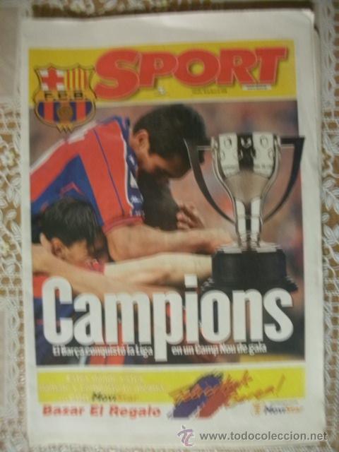 SPORT EDICION ESPECIAL BARÇA CAMPIONS LIGA 1998 BARCELONA ENTREGADO EN EL NOU CAMP (Coleccionismo Deportivo - Revistas y Periódicos - Sport)