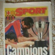 Coleccionismo deportivo: SPORT EDICION ESPECIAL BARÇA CAMPIONS LIGA 1998 BARCELONA ENTREGADO EN EL NOU CAMP. Lote 30058245