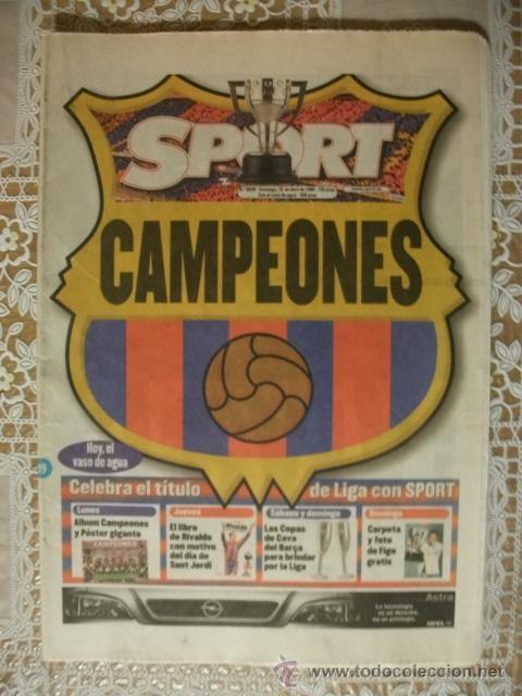 SPORT BARÇA CAMPEONES LIGA 1998 BARCELONA (Coleccionismo Deportivo - Revistas y Periódicos - Sport)