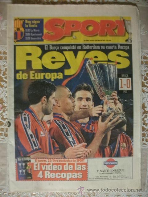 SPORT BARÇA CAMPEON RECOPA 1997 BARCELONA (Coleccionismo Deportivo - Revistas y Periódicos - Sport)