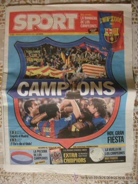 SPORT BARÇA CAMPIONS LIGA 2005 BARCELONA FUTBOL (Coleccionismo Deportivo - Revistas y Periódicos - Sport)