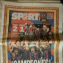 Coleccionismo deportivo: SPORT FINAL CHAMPIONS 2006 CAMPEONES BARÇA ARSENAL BARCELONA FUTBOL. Lote 89431948