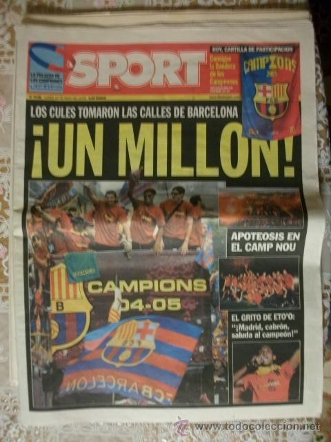 SPORT CAMPEONES BARÇA FINAL CHAMPION LEAGUE 2005 BARCELONA (Coleccionismo Deportivo - Revistas y Periódicos - Sport)