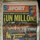 Coleccionismo deportivo: SPORT CAMPEONES BARÇA FINAL CHAMPION LEAGUE 2005 BARCELONA. Lote 30073693