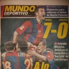 Coleccionismo deportivo: MUNDO DEPORTIVO BARCELONA A LO DREAM TEAM BARÇA -7 ATHLETIC BILBAO -0. Lote 30119740