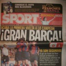 Coleccionismo deportivo: SPORT GRAN BARÇA - VALENCIA 0 - BARCELONA 1. Lote 30119802