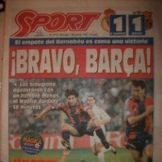 Coleccionismo deportivo: SPORT BRAVO BARÇA 1995 R. MADRID 1 -BARCELONA 1. Lote 30120004