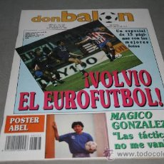 Colecionismo desportivo: REVISTA FÚTBOL DON BALÓN Nº 727 SEPTIEMBRE 1989 POSTER ABEL AT. MADRID 89-90. Lote 30333683