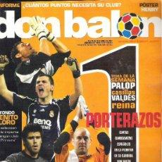 Coleccionismo deportivo: 1 EJEMPLAR REVISTA DON BALON - DEL 16 AL 22 ABRIL DE 2007 - Nº 1644 - PORTERAZOS. Lote 30608108