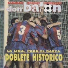 Coleccionismo deportivo: REVISTA DON BALÓN CON DOBLETE HISTÓRICO DEL FC BARCELONA 1992, LIGA & CHAMPIONS!. Lote 30703043