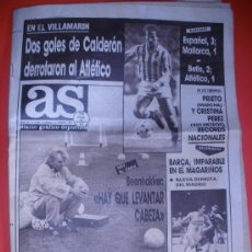 Coleccionismo deportivo: DIARIO AS .AÑO 1987.BETIS DERROTA AL ATLETICO,BECKENBAUER.. , ETC.. Lote 206863697