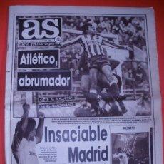 Coleccionismo deportivo: DIARIO AS .AÑO 1988.ELCHE - MALAGA , ESPAÑOL SE LUCIO EN SARRIA, CICLISMO HELIOS-CR DE VALLADOLID.. Lote 30748436