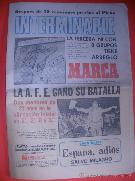 DIARIO MARCA .AÑO 1979.GORDILLO DEL BETIS,AMUCHASTEGUI,PRESENTACION DE LA REAL,EL TOUR...ETC. (Coleccionismo Deportivo - Revistas y Periódicos - Marca)