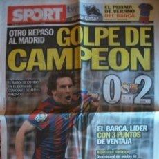 Coleccionismo deportivo: SPORT ABRIL 2010 MADRID - 0 BARÇA - 2. Lote 30771719
