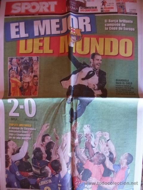 SPORT MAYO 2009 BARÇA CAMPEON CHAMPIONS (Coleccionismo Deportivo - Revistas y Periódicos - Sport)