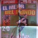 Coleccionismo deportivo: SPORT MAYO 2009 BARÇA CAMPEON CHAMPIONS. Lote 30771738