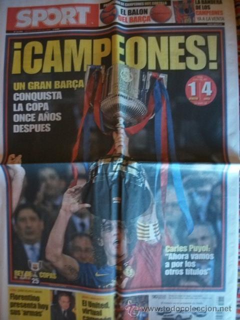 SPORT MAYO 2009 BARÇA CAMPEON COPA DEL REY (Coleccionismo Deportivo - Revistas y Periódicos - Sport)