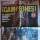 Coleccionismo deportivo: SPORT MAYO 2009 BARÇA CAMPEON COPA DEL REY. Lote 30771761