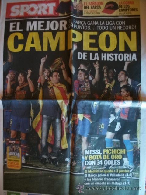 SPORT MAYO 2010 BARÇA CAMPEON LIGA (Coleccionismo Deportivo - Revistas y Periódicos - Sport)