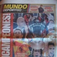 Coleccionismo deportivo: MUNDO DEPORTIVO MAYO 2009 BARÇA CAMPEON CHAMPIONS. Lote 30771859