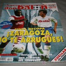 Coleccionismo deportivo: REVISTA FÚTBOL DON BALÓN Nº 1021 MAYO 1995 POSTER CUELLAR BARCELONA. Lote 30889840